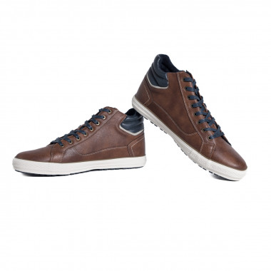 Sneakers mi-montantes Mustang grande taille marron