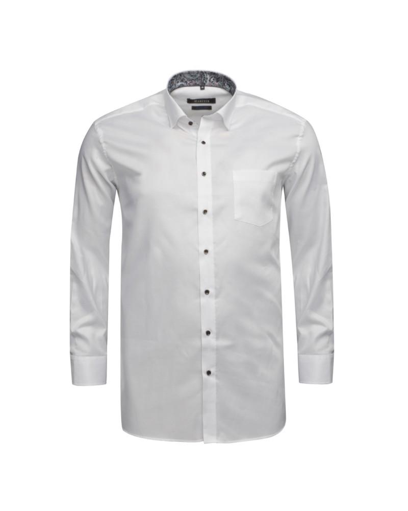 Chemise piqué Maneven grande taille blanche
