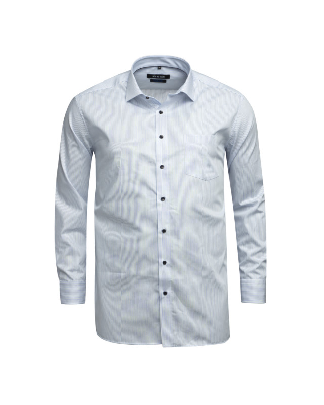 Chemise à rayures Maneven grande taille blanche