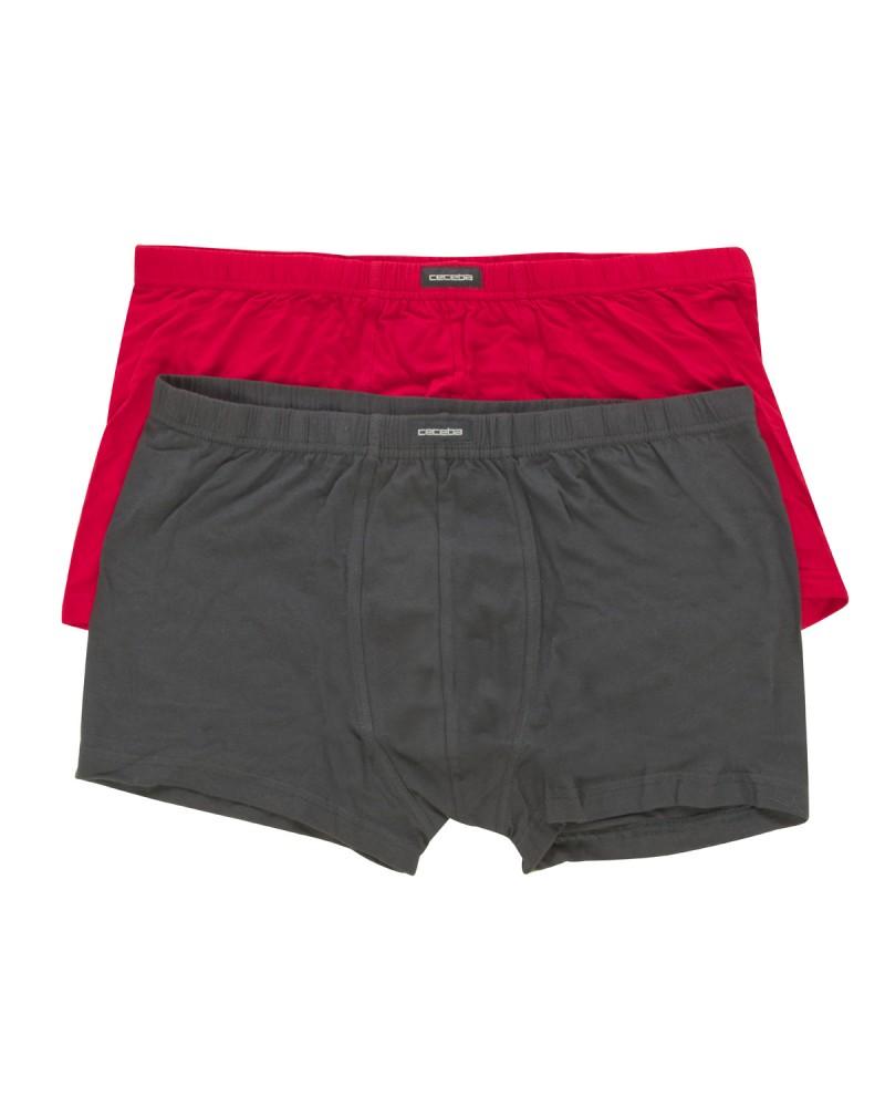 Lot de 2 boxers Ceceba grande taille noir et rouge