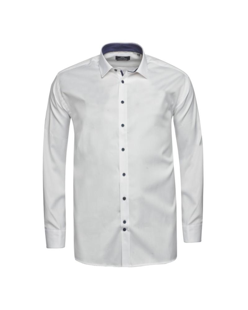 Chemise Hastorg grande taille blanche avec opposition
