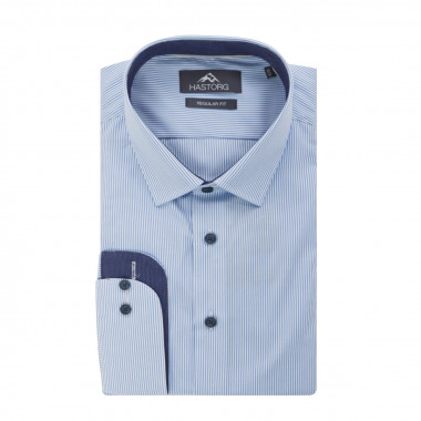 Chemise à rayures Hastorg grande taille bleue