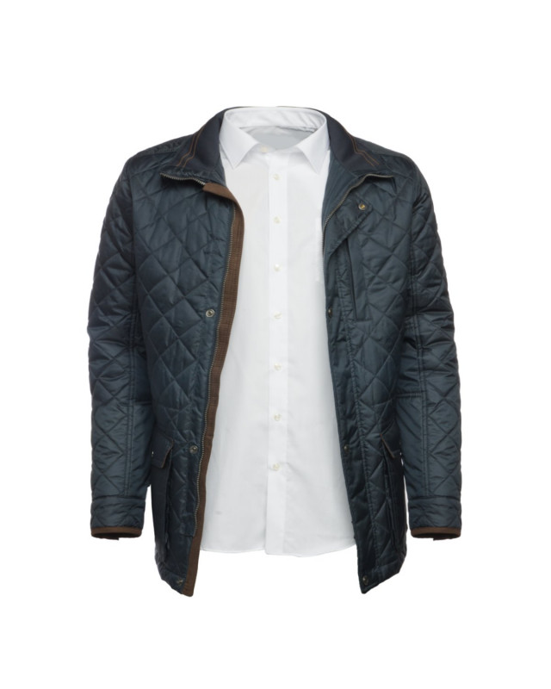veste matelassée homme bleu marine