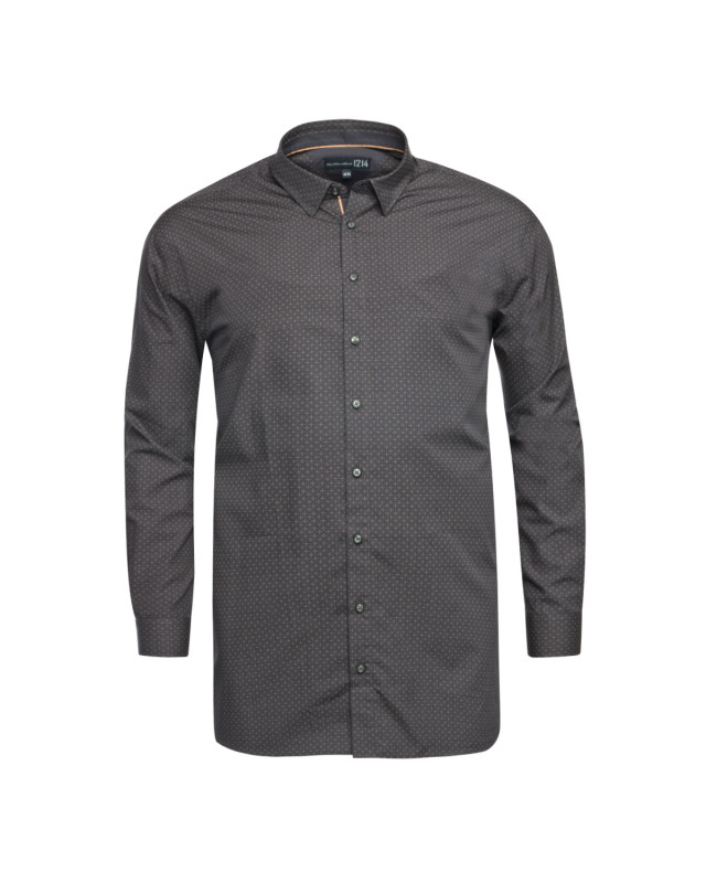 Chemise 1214 grande taille en coton anthracite