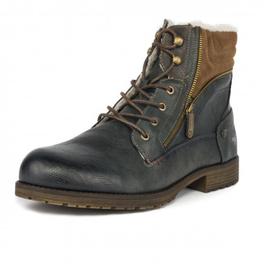 Bottines fourrées Mustang grande taille anthracite