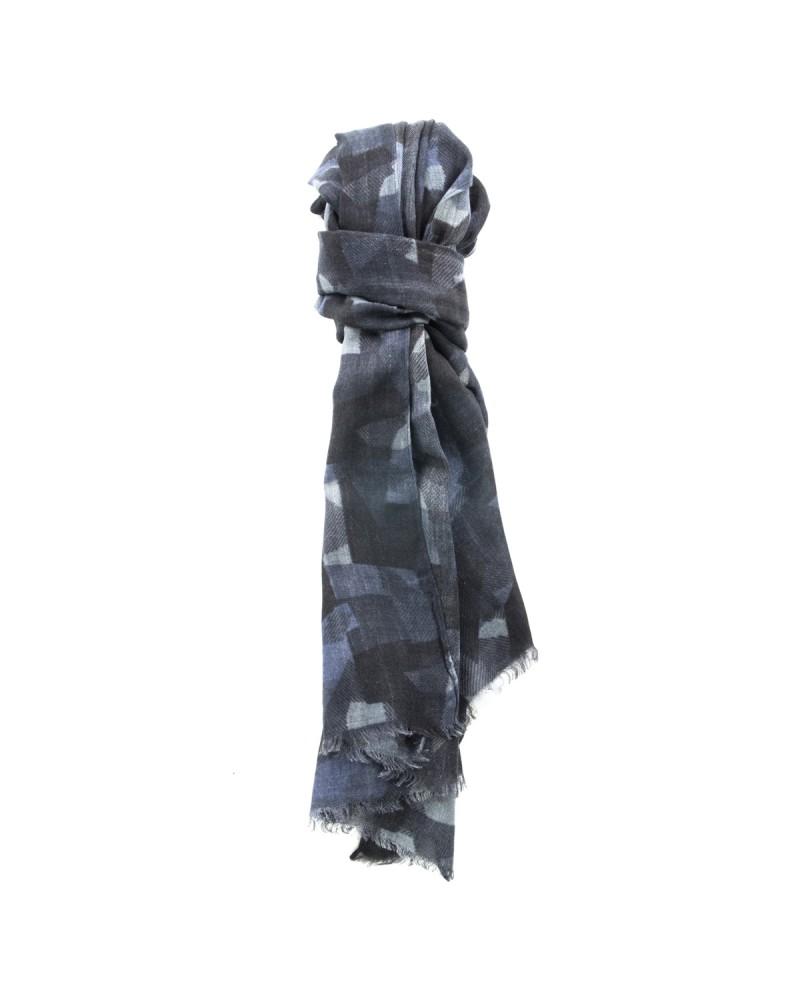 Echarpe en laine Maneven bleu marine