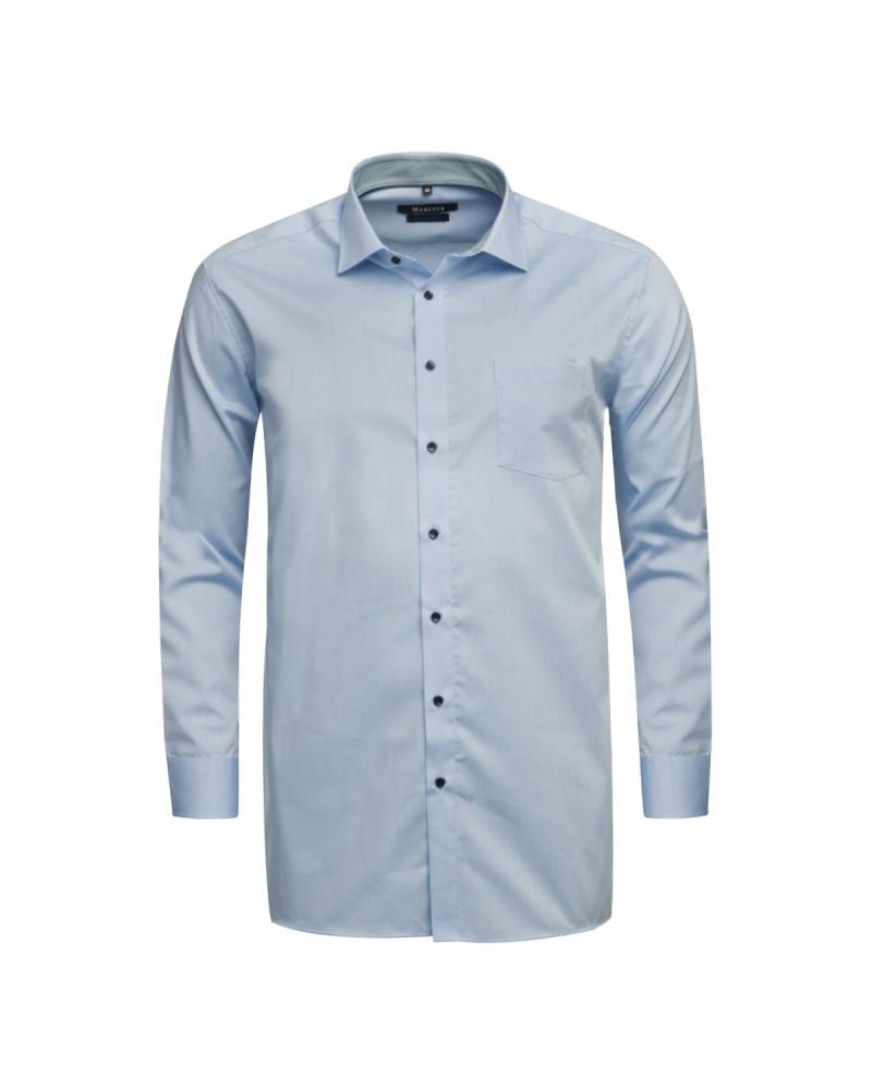 Chemise Maneven manches extra-longues 72 cm bleue avec opposition