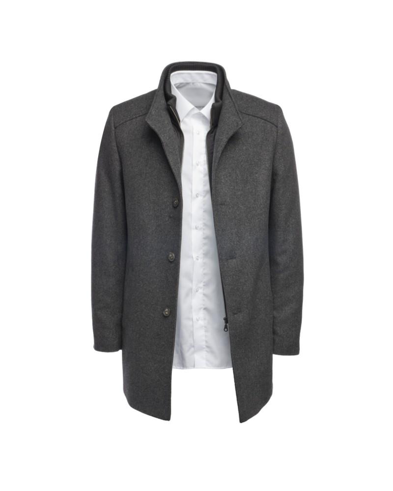 Manteau long en laine S4 pour homme grand anthracite