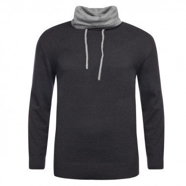 Pull San Roch noir manches extra-longues