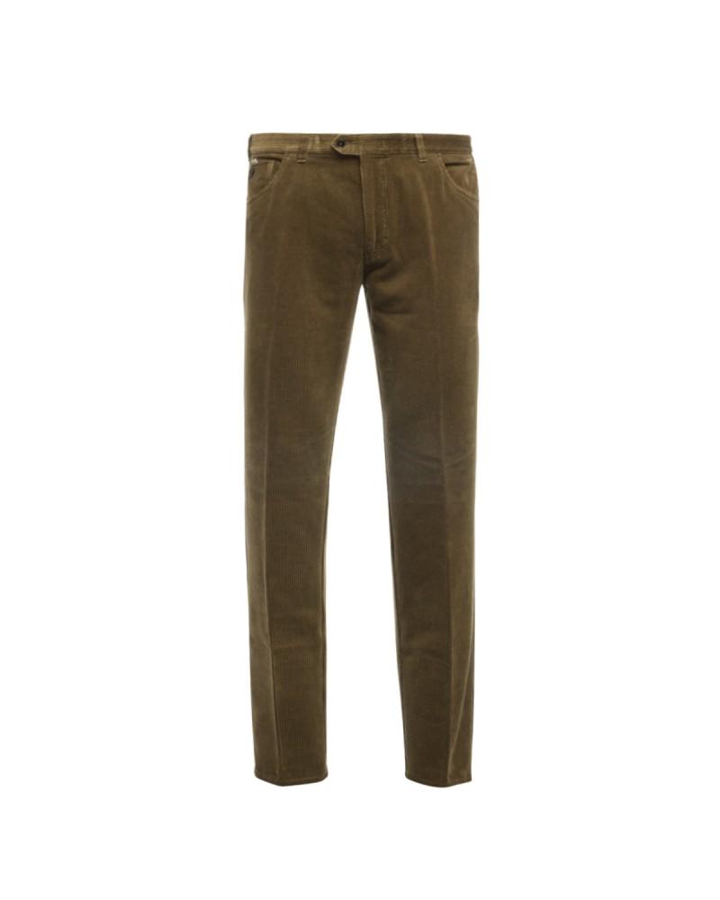 Pantalon chino en velour Maneven taupe grande taille