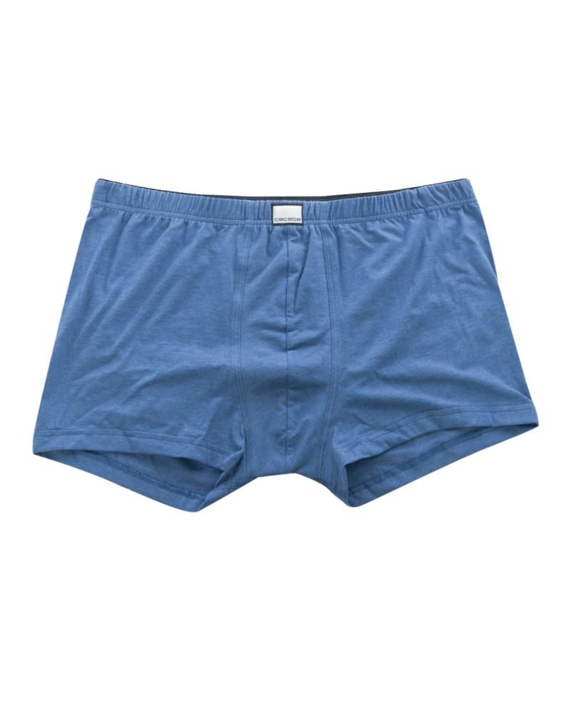 Boxer Ceceba grande taille bleu en coton
