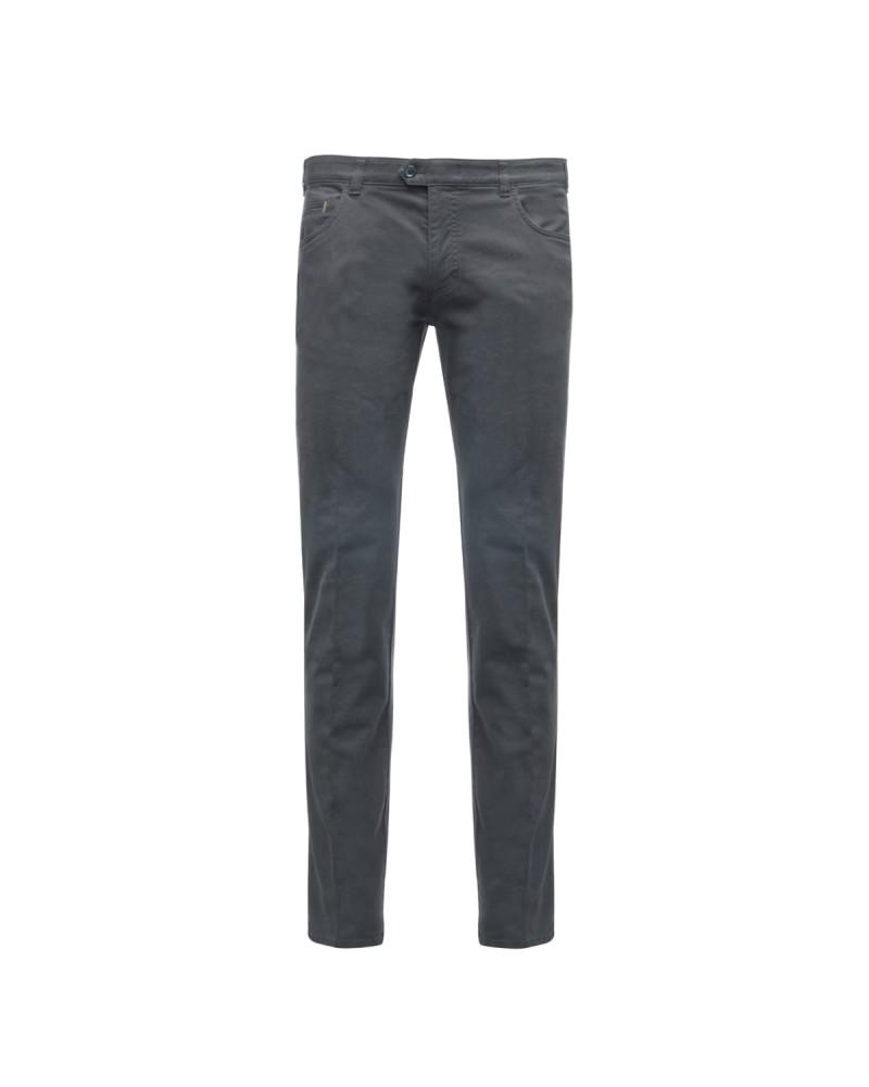Pantalon chino Maneven bleu marine homme grande taille