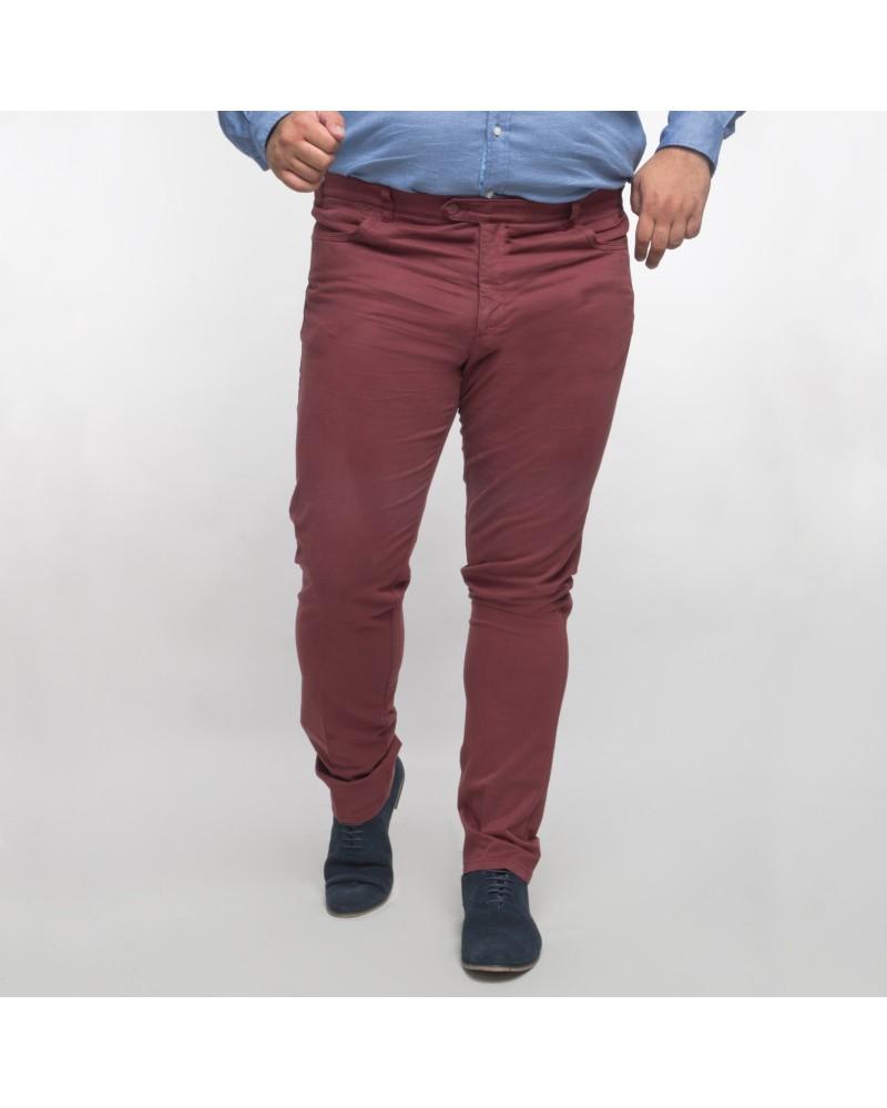Pantalon chino Maneven bordeaux grande taille