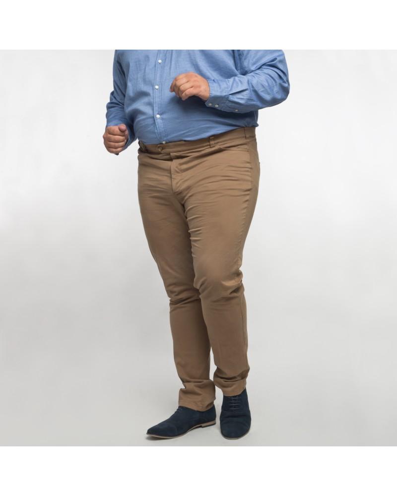 Pantalon chino Maneven noisette grande taille