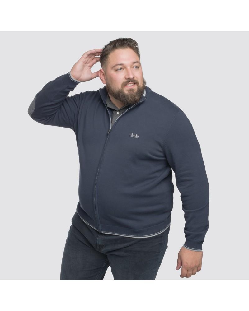 Gilet zippé Hugo Boss grande taille bleu marine