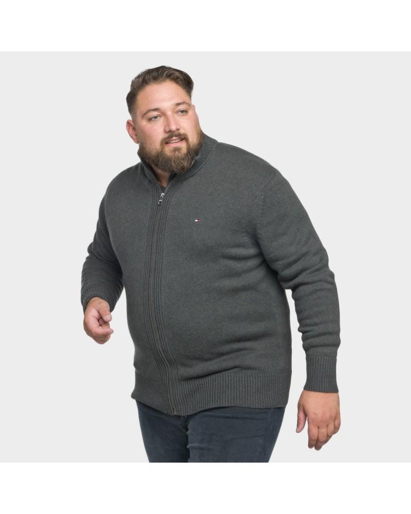 Gilet zippé Tommy Hilfiger grande taille anthracite