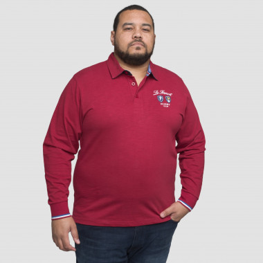 Polo manches longues Ruckfield grande taille rouge