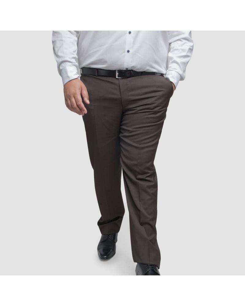 Pantalon de costume Digel marron grande taille