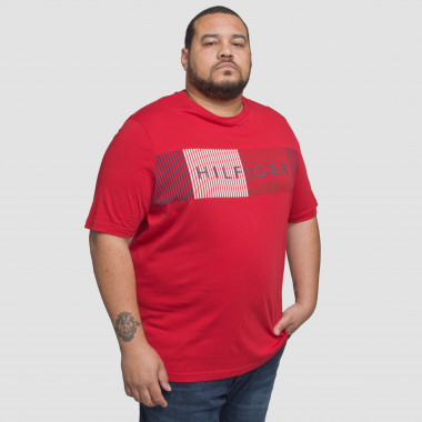 Tee shirt imprimé Tommy Hilfiger grande taille rouge