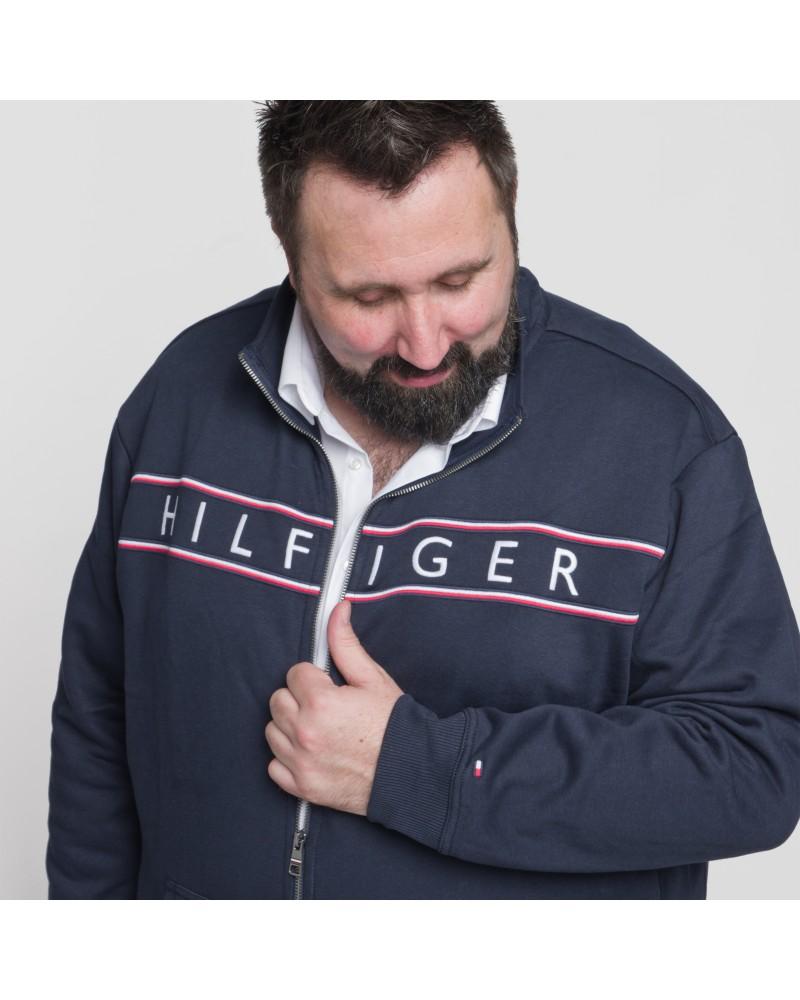 Sweat zippé Tommy Hilfiger grande taille bleu marine