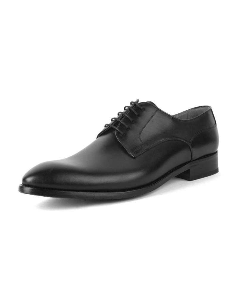 Chaussures derby en cuir Paul Edwards bout rond grande taille noir