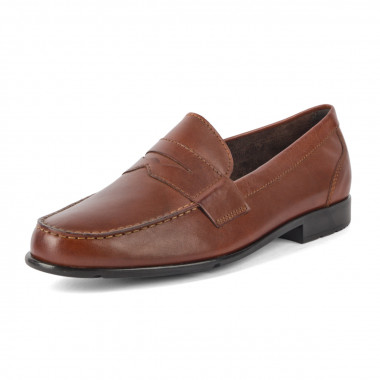 Chaussures mocassin Rockport marron grande taille