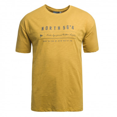 Tee shirt North 564 grande taille moutarde