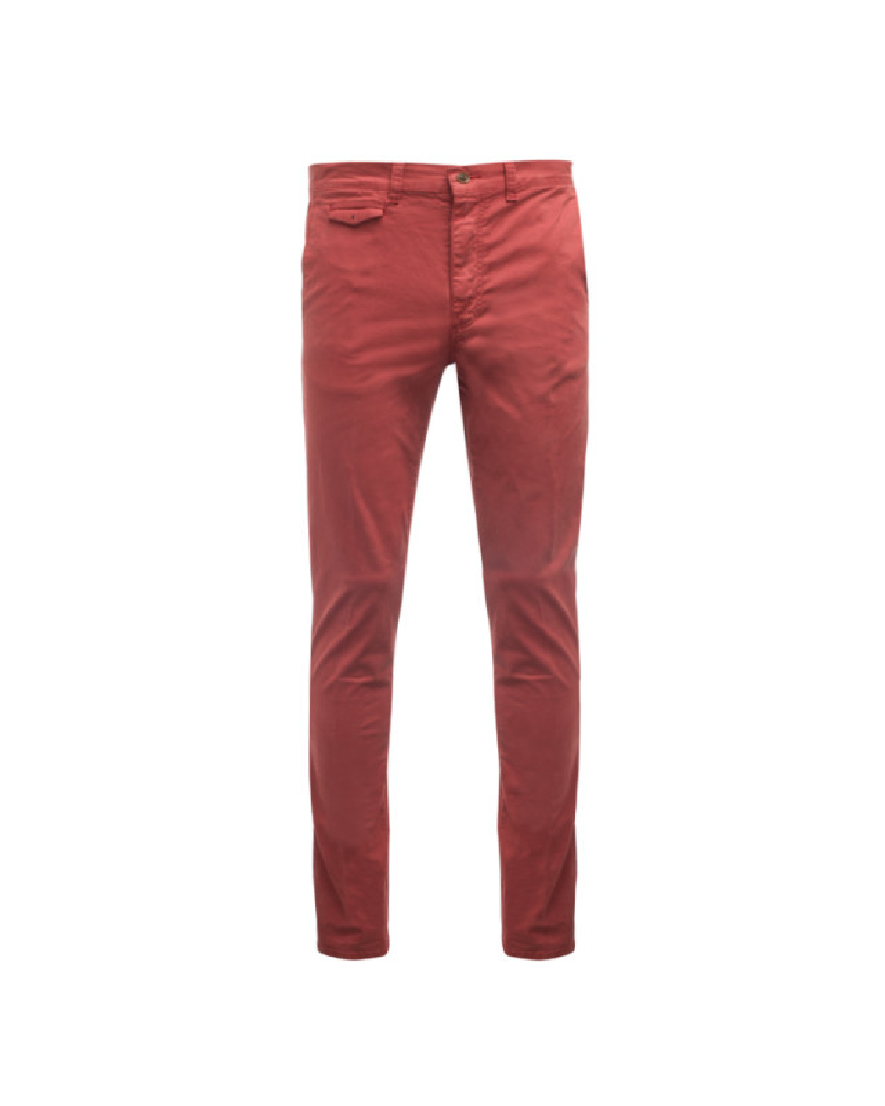 Pantalon chino 1214 rouille homme grand