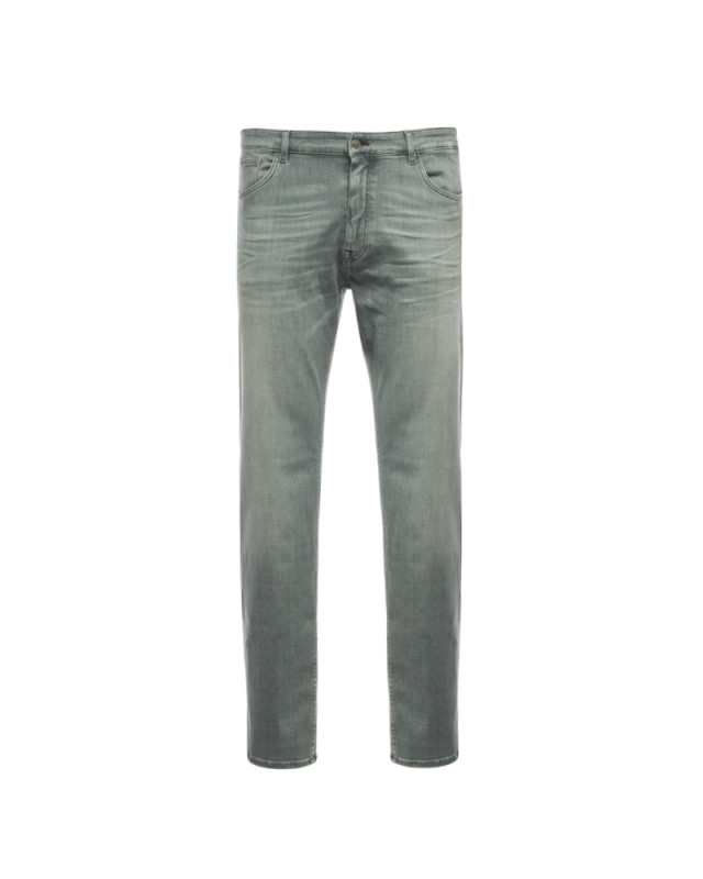 Jean stretch Hugo Boss Regular grande taille pour homme gris clair