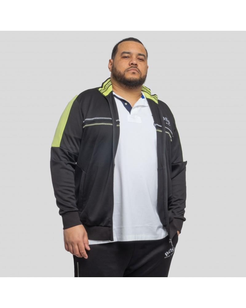 Sweat de jogging Hugo Boss détails lime grande taille pour homme noir