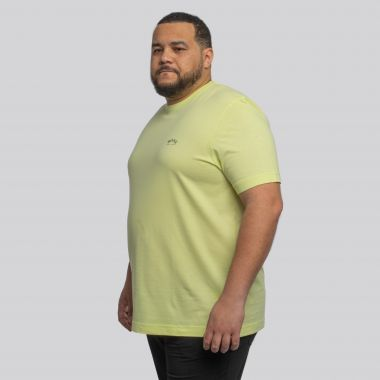 Tee shirt col rond jaune lime Hugo Boss grande taille pour homme