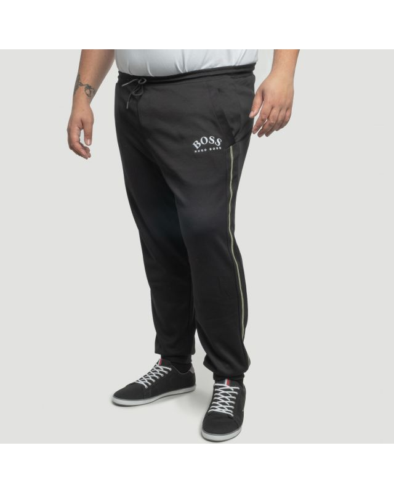 Pantalon de jogging Hugo Boss détails lime grande taille noir