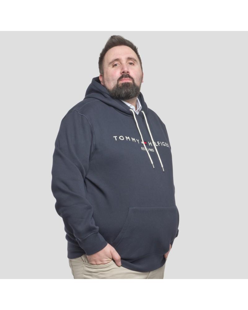 Sweat à capuche Tommy Hilfiger grande taille bleu marine