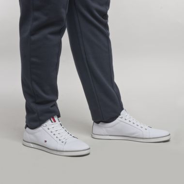 Sneakers en toile Tommy Hilfiger grande taille blanches
