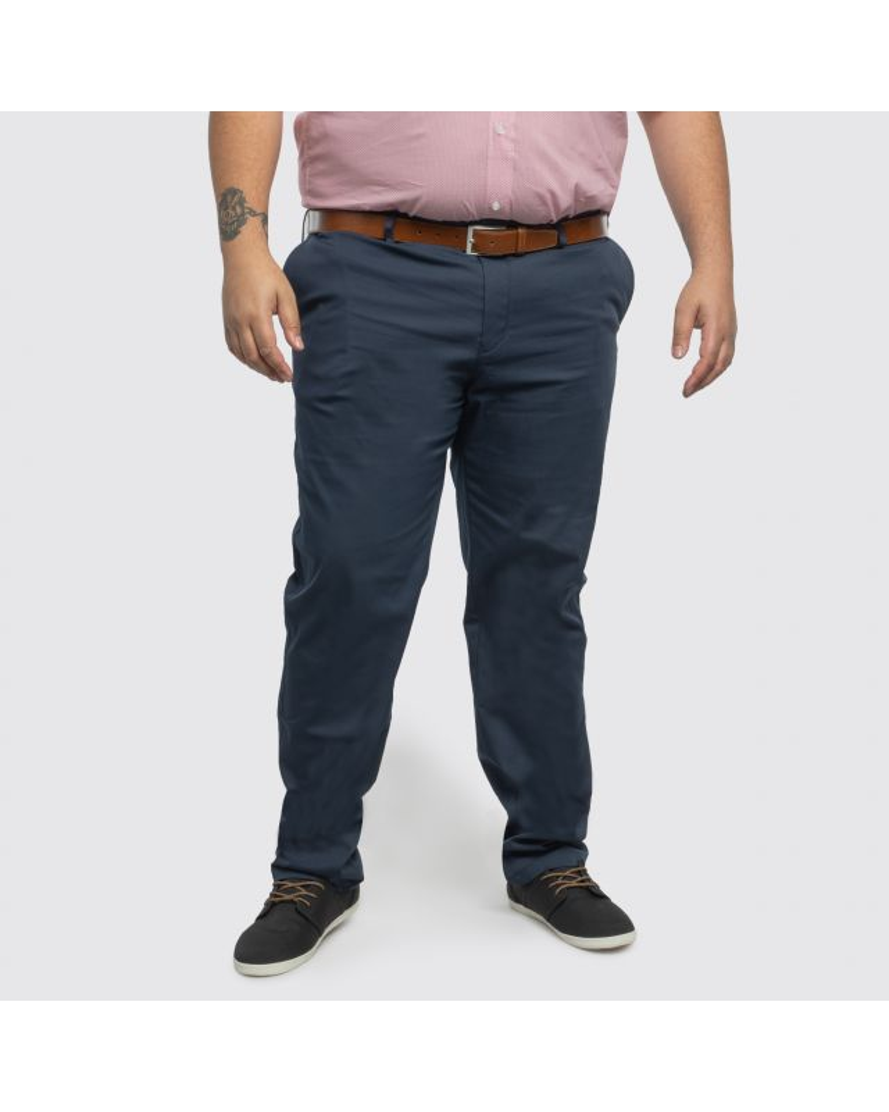 Pantalon chino Hugo Boss Regular grande taille pour homme bleu marine