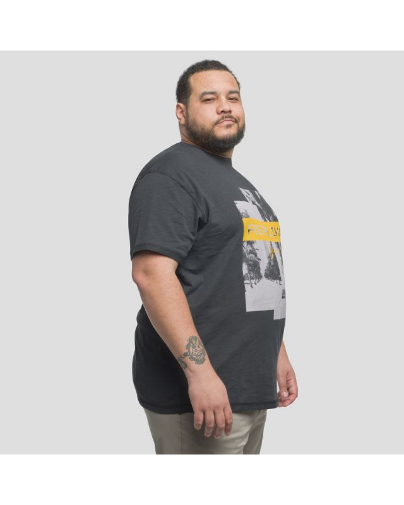 Tee shirt Replika flammé grande taille noir