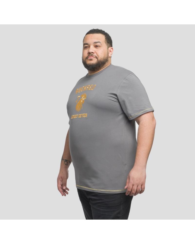 Tee shirt jersey Ruckfield Coq Français grande taille gris foncé