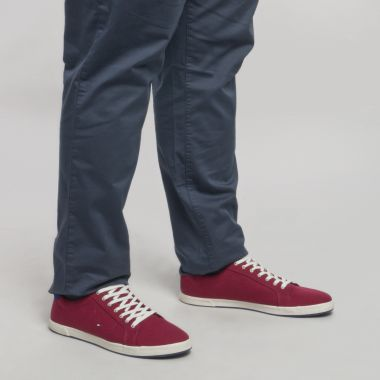 Sneakers Tommy Hilfiger Iconic Long Lace grande taille rouges