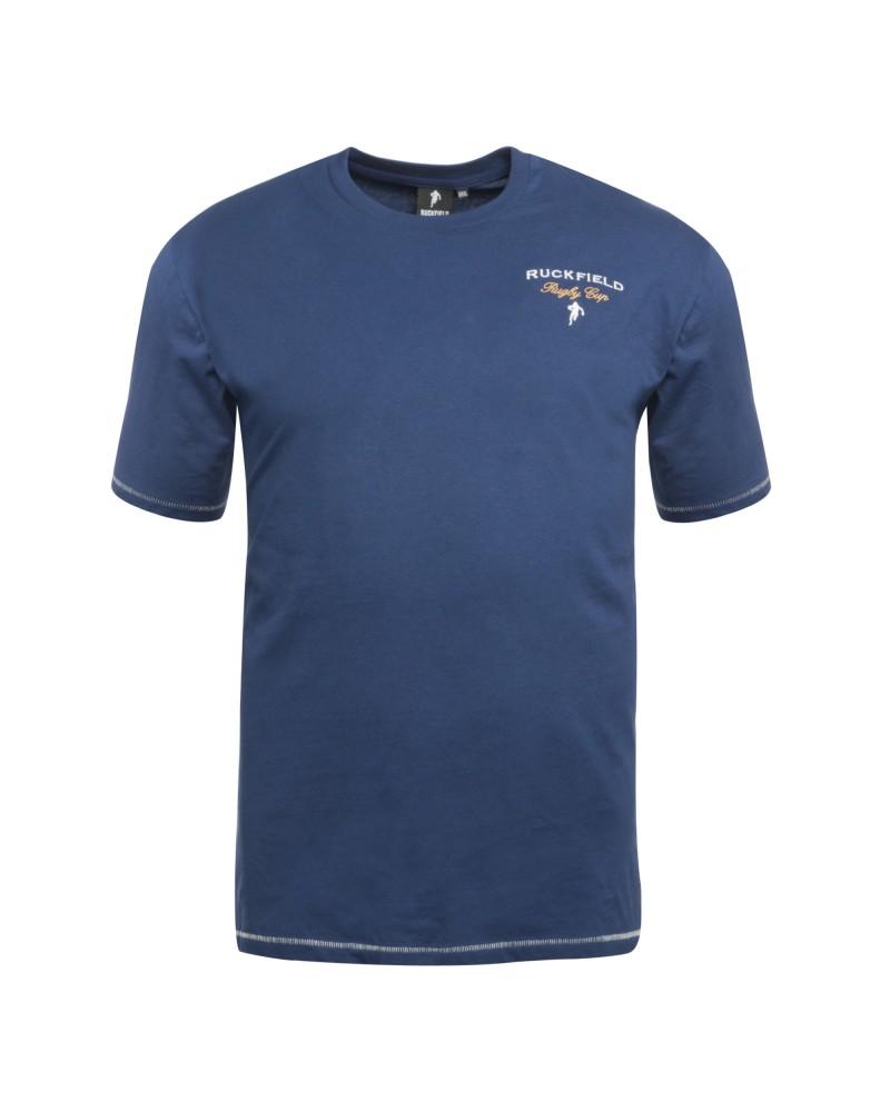 Tee shirt jersey Ruckfield col rond grande taille bleu marine