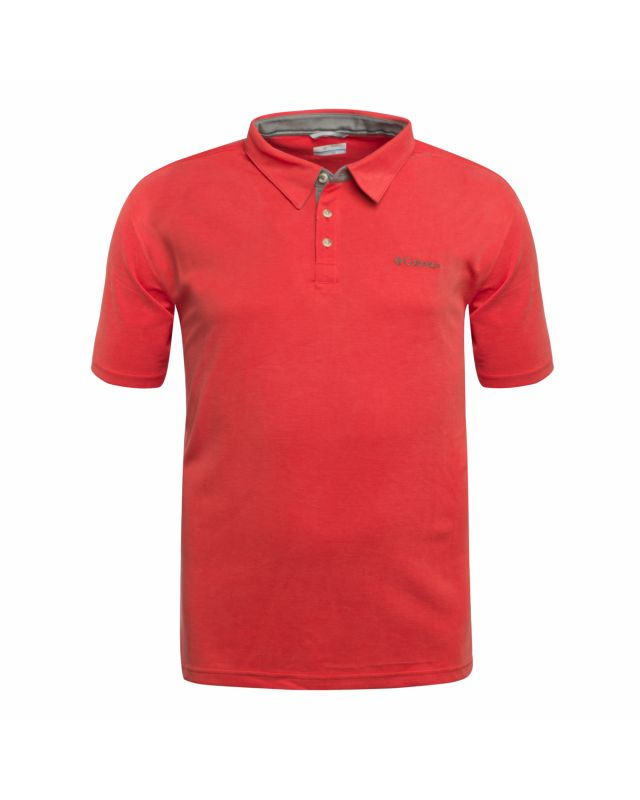 Polo Columbia Nelson Point grande taille rouge