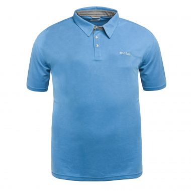 Polo Columbia Nelson Point grande taille bleu