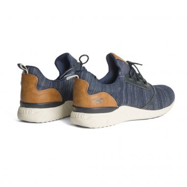 Sneakers Mustang chinés grande taille bleu marine