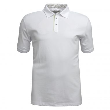 Polo J.Ordell grande taille blanc