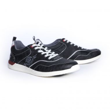 Sneakers Mustang lacé grande taille pour homme gris anthracite