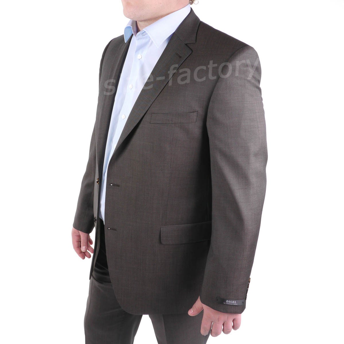 veste de costume pr f rence marron pour homme fort du 62 au 68 size factory digel. Black Bedroom Furniture Sets. Home Design Ideas