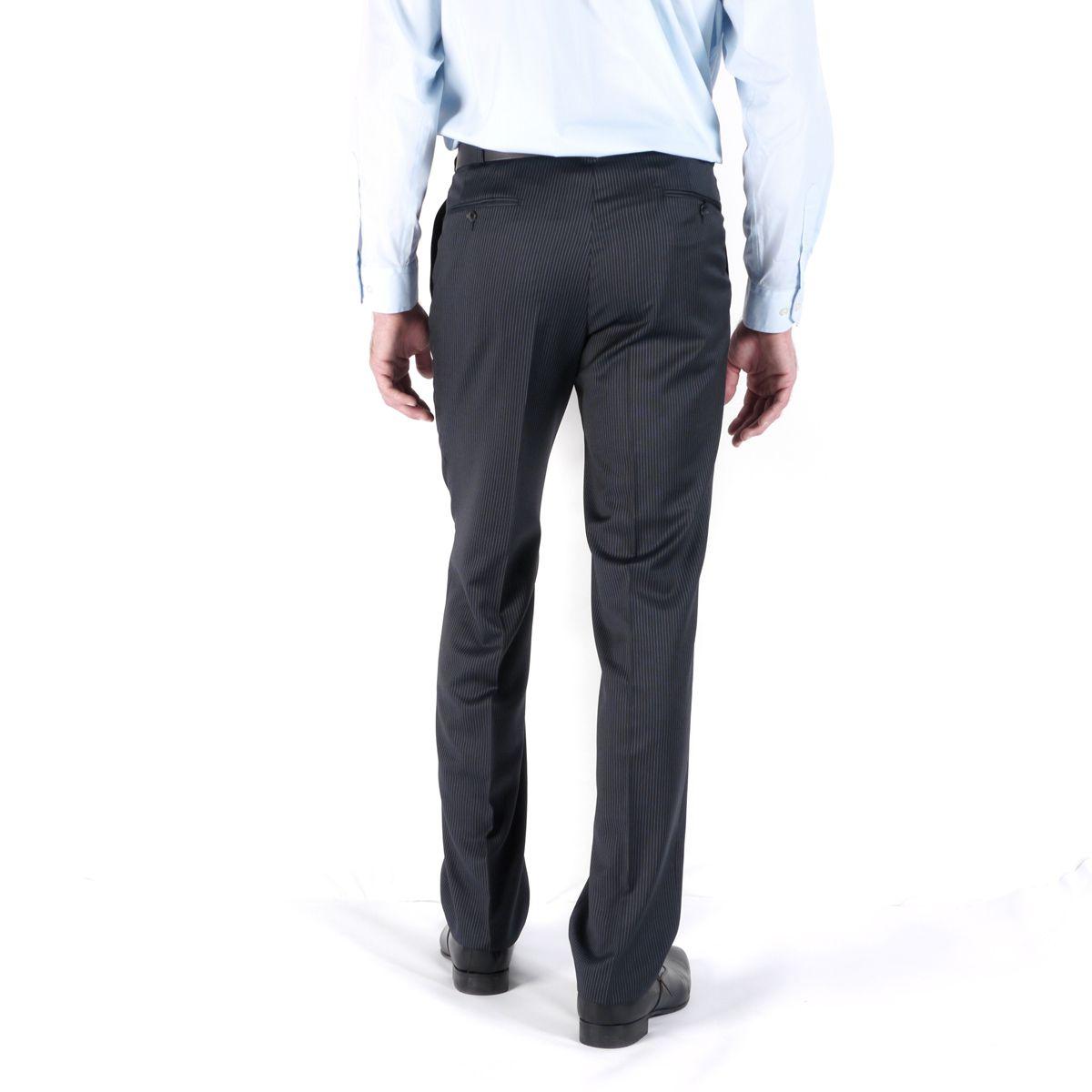 pantalon de costume grande taille preference bleu raye taille elancee du 46 au 56 digel. Black Bedroom Furniture Sets. Home Design Ideas