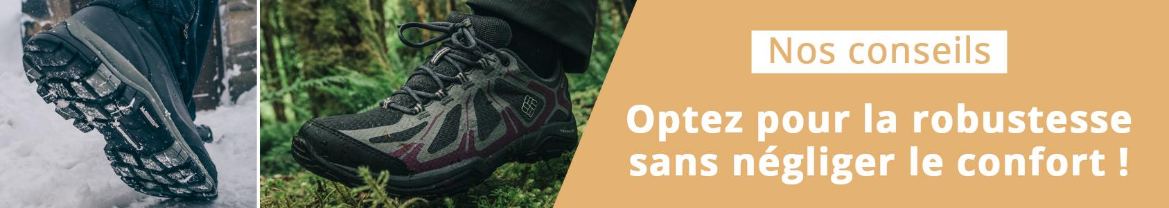 chaussure de sécurité et randonnée