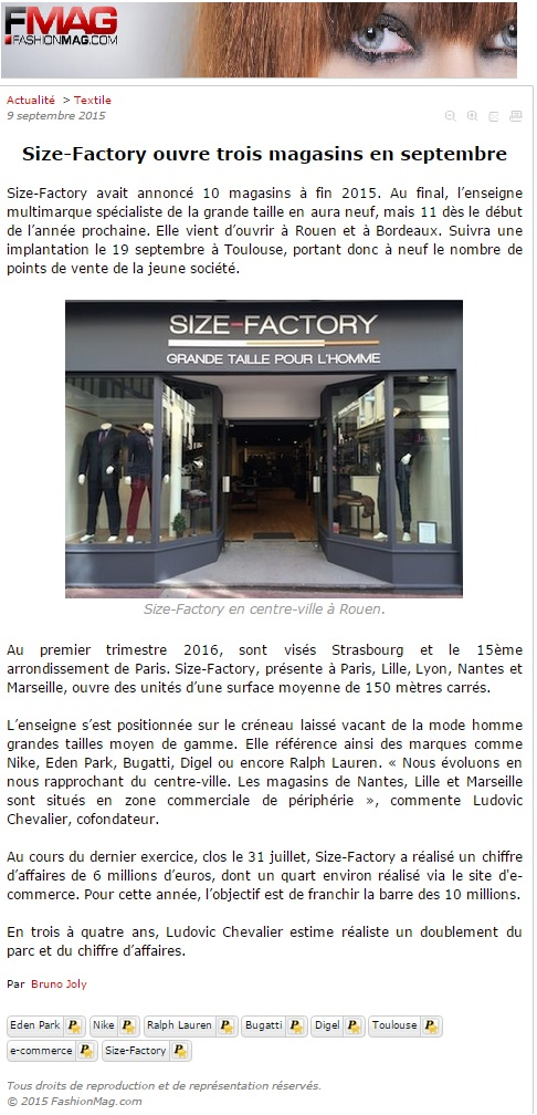 Article FashionMag - Size-Factory