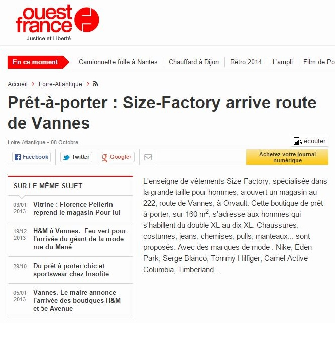 Ouest-France Size-Factory