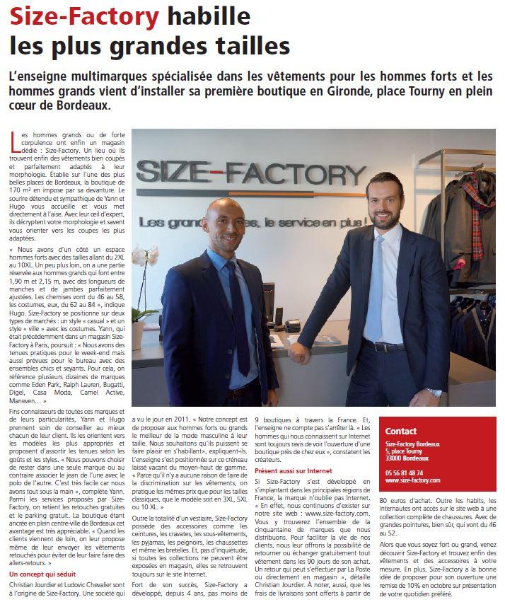 Size-Factory Bordeaux - Sud Ouest